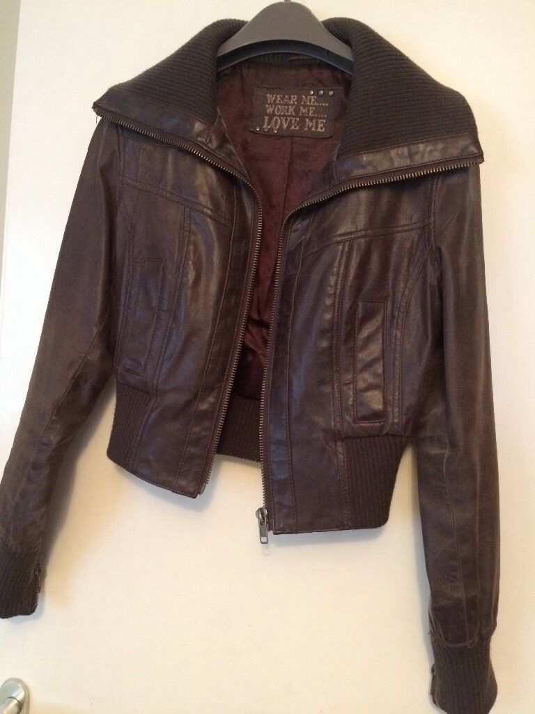Brown leather jacket size 12in Sutton, LondonGumtree - Womens brown leather jacket size 12. Great condition hardly been worn. Pick up or drop off depending on location
