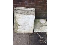 Seven cream 60x60cm paving slabs