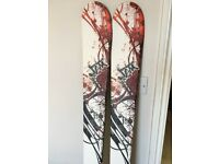 Lightly used all mountain skis