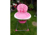 PINK HEARTS HIGH CHAIR