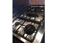 Belling Range stainless steel cooker. 5 burners large oven, light & timer. 900w x. 600d x 902 h.