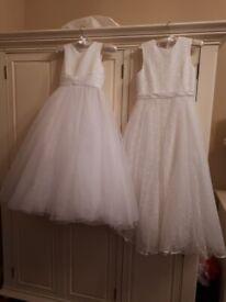 Girls 2 communion dresses