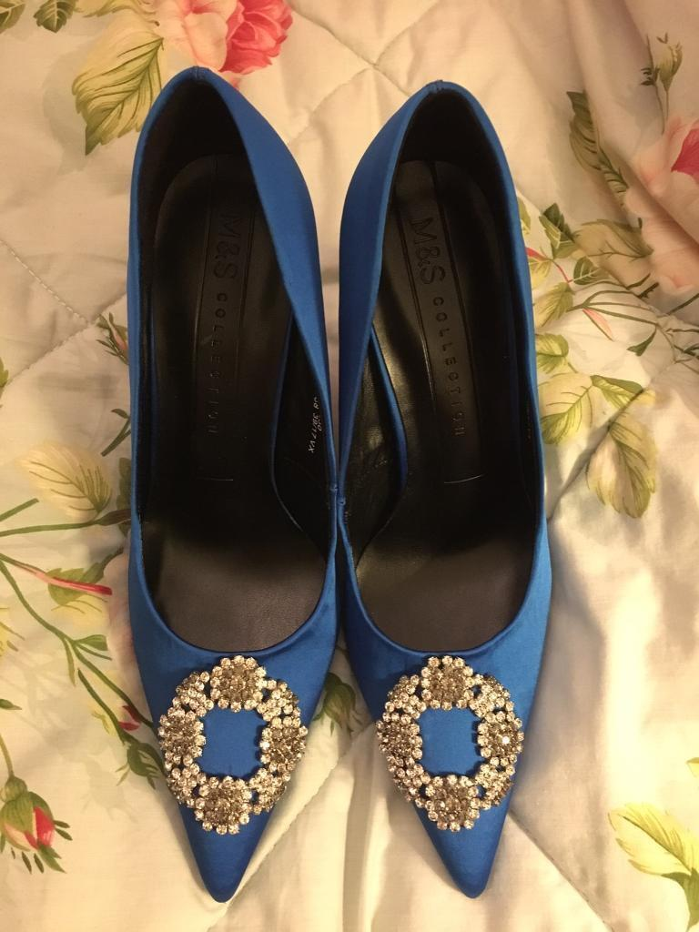 Marks and Spencer's version of the Manolo Blahnik shoes seen in Sex in the  City.