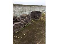 200 flat slemish. Turf brown weatern made by Quinn compeny 25p each tile or £45 for the lot