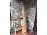 Ikea wooden single bed frame