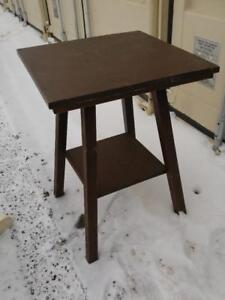 """Oakville Parlour Table 22x22x30"""" Hall Tall Solid Wood Dark Brown Retro Vintage Cottage Country Rustic Furniture"""