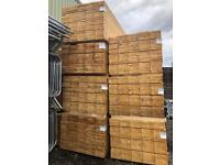 🍄 100 X WOODEN SCAFFOLD BOARDS/ PLANKS > 3.9M > NEW