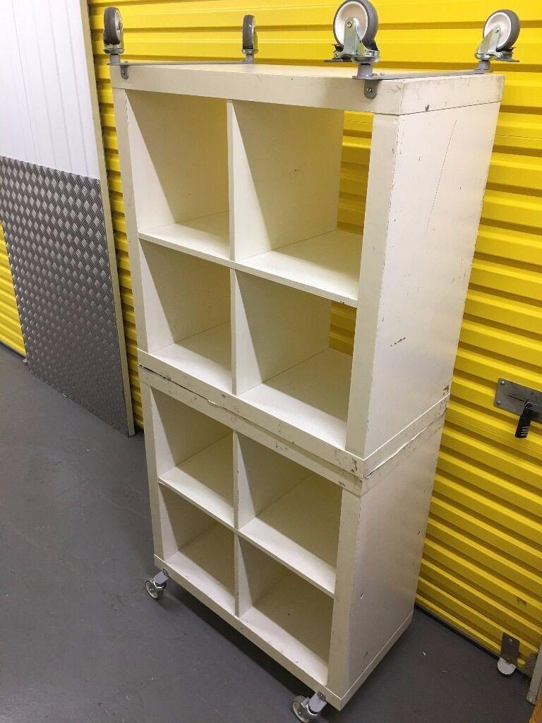 Ikea Kallax Book Shelf Shelving White Unit Wheels Included Price 15