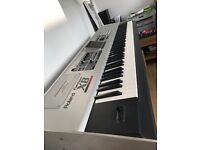 Roland Fantom X8, with stand, pedal and flight case - Immaculate condition