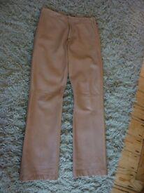 Joseph leather trousers.