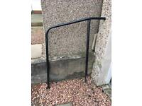 External steel handrail for steps