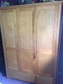 Pine Wardrobe three-door