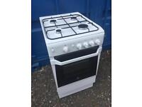 Indesit white gas cooker 500 wide only 6 months old in new condition
