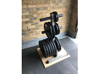 Jordan Olympic Sized Gym Weights Plates 185kg Total (Weight Tree Also Available)