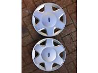 "Ford Fiesta pair of wheel trims 14"" diameter"