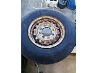 Boat trailer wheels and tyres x 2. 4 Stud,