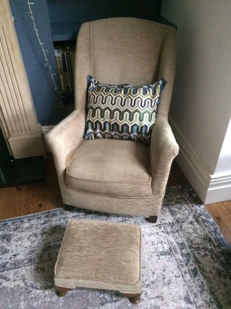 Beautiful little chair and footstool