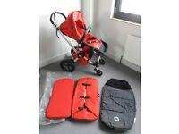 Bugaboo Cameleon pram pushchair red and grey