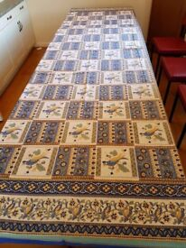 Large patterned tablecloth ideal for entertaining