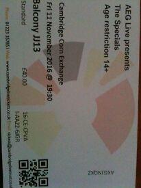 The Specials Cambridge Corn Exchange tickets 11/11/16
