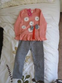 Girls leggings sets 100 cm small 18/24 mnth bnwt