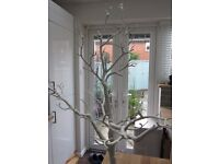 Decorative white twig tree 76 cm high