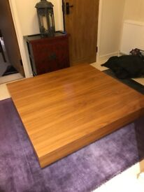 Stylish large square coffee table for sale