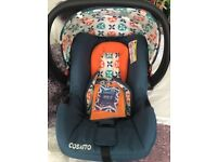 Cosatto car seat brand new with raincover still has tags on