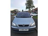 55plate Vauxhall zafira breeze 7 seater 1.6 petrol