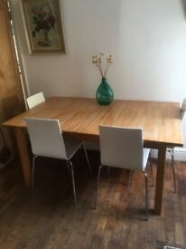 Ikea dining table with 4 habitat chairs