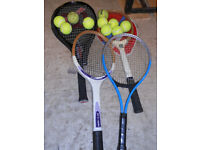 Rackets and Balls - Ideal For Dog Exercising, Garden, Beach - £10 the lot, or could split