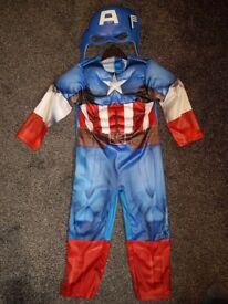 Boys fancy dress captain america