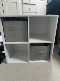 Wooden storage cube