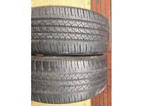 2x Bridgestone Dueler Tyres