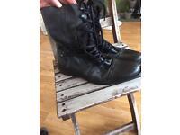 Men's black boots river island