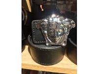 Versace belt silver buckle