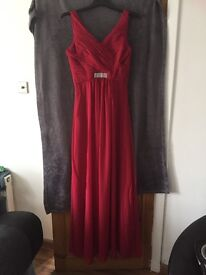 Bridesmaid or prom dress Bordeaux red