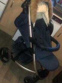 Billie Faiers MB200 Rose Gold & Navy Pushchair