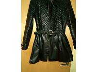Ladies leather coat
