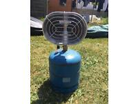 Coleman gas tent heater with empty R907 gas bottle