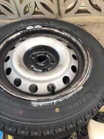Brandnew tyre size is 215 60 r16c on a wheel £50