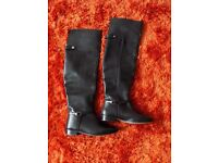 Over the knee faux leater boots