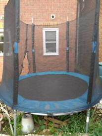 Trampoline 7 Ft - Blue. In used condition and good.