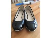 Fiore Black Quilted Flat/Ballerina shoes