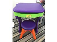 Crayola desk and stool