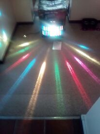Like new condition large disco lights multi colour