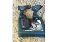 Bosch drill and impact driver