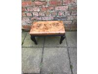 Antique leather stool