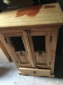 Indian wood / sheesam cabinet 20.00