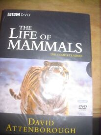Brand new packaged The LlIFE OF MAMMALS by David Attenmborough 4 dvd set